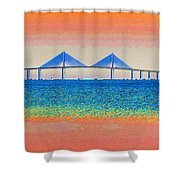 Skyway Morning Shower Curtain by David Lee Thompson