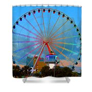 Skywheel Shower Curtain