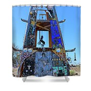 Slab City Museum Tower Shower Curtain