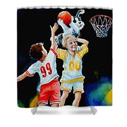 Slam Dunkin Dog Shower Curtain
