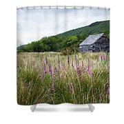 Slate Cabin In Wales Shower Curtain