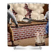 Slaves Refining Sugar Cane Jamaica Train Historical Old South Americana Life  Shower Curtain