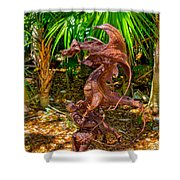 Slaying Dragons Shower Curtain