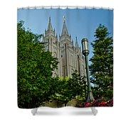 Slc Temple Walk Shower Curtain by La Rae  Roberts