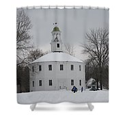 Sledding Shower Curtain