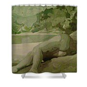 Sleep Behind The River Shower Curtain