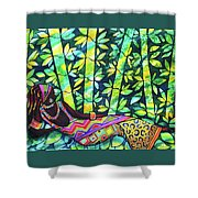 Sleep To Dream Silkpainting Belize Shower Curtain