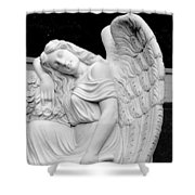 Sleeping Angel Shower Curtain