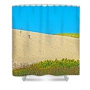 Sleeping Bear Dune Climb In Sleeping Bear Dunes National Lakeshore-michigan Shower Curtain