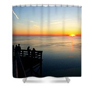 Sleeping Bear Sunset 02 Shower Curtain