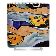 Sleeping Cellists Shower Curtain