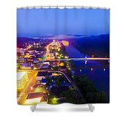 Sleeping City Shower Curtain