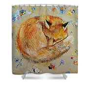 Sleeping Fox Shower Curtain