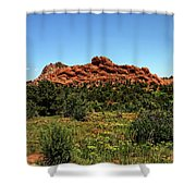 Sleeping Giant At The Garden Of The Gods Shower Curtain