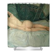 Sleeping Naked Woman Shower Curtain