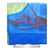 Sleeping Nude Shower Curtain
