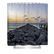 Sleeping On South Beach Shower Curtain
