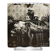 Sleeping Woman, C1900 Shower Curtain