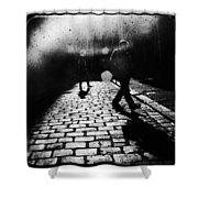 Sleepwalking Shower Curtain by Andrew Paranavitana