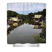 Sleepy Cedar Key Florida Shower Curtain by David Lee Thompson