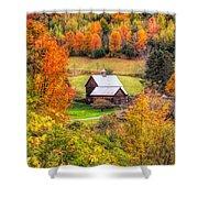 Sleepy Hollow Farm In Fall Shower Curtain