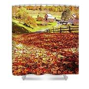 Sleepy Hollow - Pomfret Vermont-1 Shower Curtain