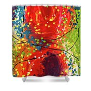 Sleeved Rubies Shower Curtain