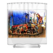 Slice Of Life Milkman Blue City Houses India Rajasthan 1a Shower Curtain
