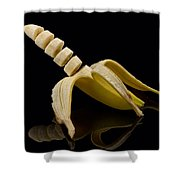 Sliced Banana Shower Curtain