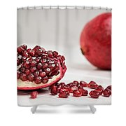 Sliced Pomegranate Shower Curtain