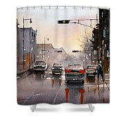 Slick Streets Shower Curtain