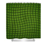 Slide In Green Shower Curtain