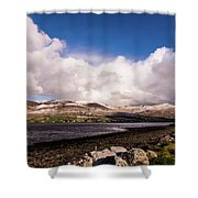 Slieve Mish Mountain In Snow Shower Curtain