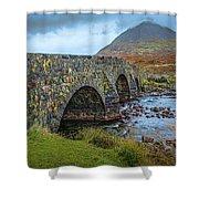 Sligachan Bridge View #h4 Shower Curtain by Leif Sohlman