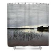 Thin Rain In The Evening Shower Curtain