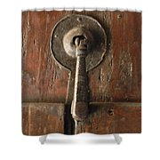 Slim Door Knocker Shower Curtain