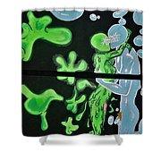 Slime Bubble Couple Shower Curtain