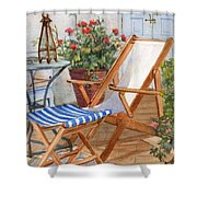 Sling Back Chair Shower Curtain