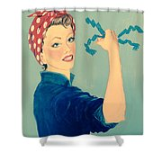 Sling The Mesh Shower Curtain