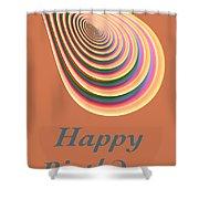 Slinky - Happy Birthday Card 2 Shower Curtain