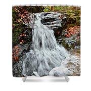Slippery Rock Falls Fdr State Park Ga Shower Curtain