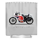Slippery Sam Production Racer Shower Curtain