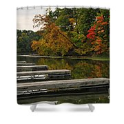 Slips In Autumn Shower Curtain