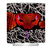 Slithering Blue Shower Curtain
