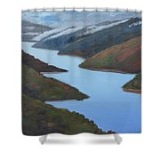 Sliver Of Crystal Springs Shower Curtain