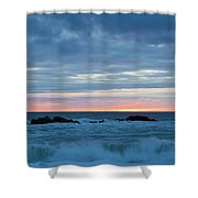 Sliver Of Pink At Moonstone Beach Shower Curtain