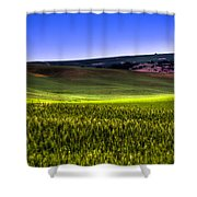 Sliver Of Sunlight On The Palouse Hills Shower Curtain