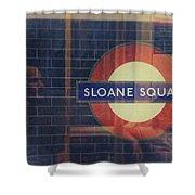 Sloane Square Portrait Shower Curtain