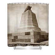 Sloat Monument On The Presidio Of Monterey Circa 1910 Shower Curtain