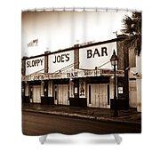 Sloppy Joe's - Key West Florida Shower Curtain by Bill Cannon